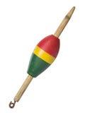 Flutuador de madeira da pesca do vintage Imagens de Stock Royalty Free