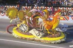 Flutuador do galo em Rose Bowl Parade, Pasadena, Califórnia Imagens de Stock Royalty Free