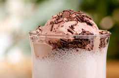 Flutuador do leite de chocolate fotos de stock royalty free