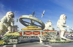 Flutuador dos astronautas em Rose Bowl Parade, Pasadena, Califórnia Foto de Stock