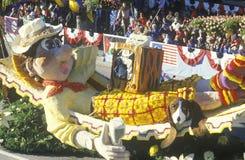 Flutuador em Rose Bowl Parade, Pasadena, Califórnia Foto de Stock Royalty Free