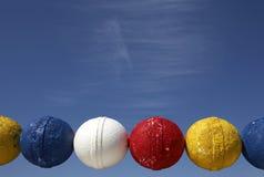 Flutuadores coloridos da rede de pesca Imagem de Stock