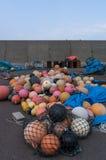 Flutuadores plásticos da pesca Foto de Stock Royalty Free