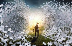 Flutwelle von Buchseiten Lizenzfreies Stockfoto