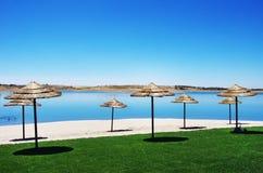 Fluvial plaża przy alqueva jeziorem, Portugalia obraz stock