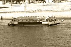 Fluvial transport: boat Royalty Free Stock Photos