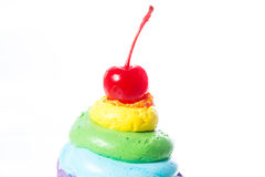 Fluweel cupcakes isolate Stock Foto's