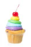 Fluweel cupcakes isolate Royalty-vrije Stock Fotografie