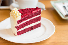 Fluweel rode cake Royalty-vrije Stock Foto