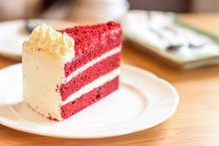 Fluweel rode cake Stock Foto
