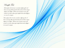 Flux bleu Image libre de droits