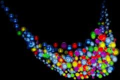 Flux de bulle sur le noir Photographie stock libre de droits