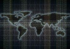 Flux de données global Images libres de droits