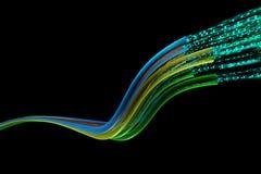 Flux de données optique de fils Image libre de droits