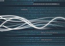 Flux de données OU analyse de données Images stock