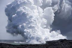 Flux de lave à l'océan 9926 Image libre de droits
