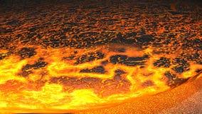 Flux de lave (rendez) Photographie stock libre de droits