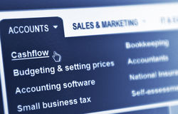 Flux de liquidités Images stock