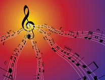 Flux de musique Photos libres de droits