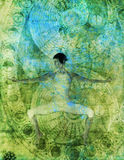 Flux de yoga Images libres de droits