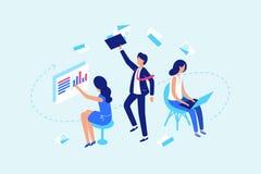 Flux des tâches, travaillant avec des documents et des données illustration libre de droits