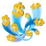 flux du dollar d'argent comptant