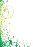 Flux floral d'encre Photographie stock libre de droits