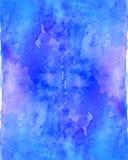 Fluxo azul do fundo da aquarela Imagens de Stock
