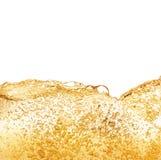 Fluxo da espuma da cerveja Fotografia de Stock