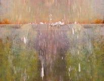 Fluxo da fonte de água imagem de stock