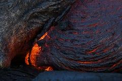 fluxo da superfície da lava fotografia de stock royalty free