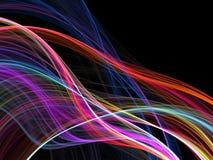 Fluxo das linhas do arco-íris Fotos de Stock