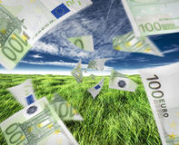 Fluxo de dinheiro Fotografia de Stock Royalty Free