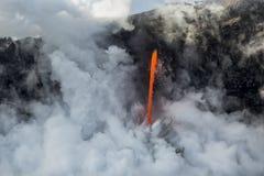 Fluxo de lava da mangueira de fogo Imagens de Stock Royalty Free