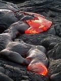 Fluxo de lava havaiano imagens de stock