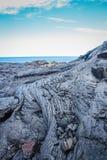 Fluxo de lava havaiano fotografia de stock royalty free