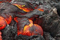 Fluxo de lava morno do coração fotos de stock