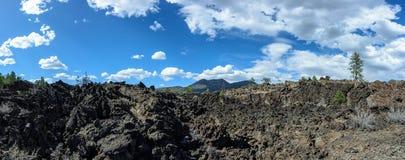 Fluxo de lava na cratera o Arizona do por do sol Foto de Stock