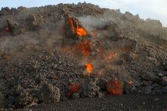 fluxo de lava no alvorecer imagens de stock royalty free