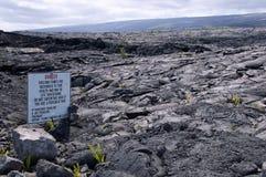 Fluxo de lava recente, Kalapana, Havaí Fotografia de Stock Royalty Free