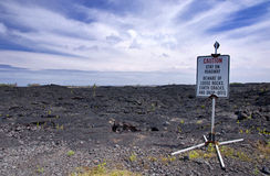 Fluxo de lava recente, Kalapana, Havaí Foto de Stock