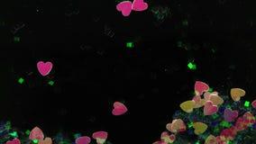 Fluxo decorativo extravagante do coração vídeos de arquivo