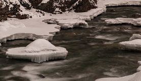 Fluxo dinâmico do inverno Foto de Stock