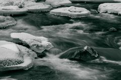 Fluxo dinâmico do inverno Imagem de Stock