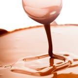 Fluxo do chocolate Imagens de Stock