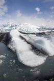 Fluxo do gelo na geleira do Alasca Fotografia de Stock