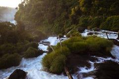 Fluxo do iguacu do rio imagens de stock royalty free