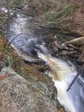 Fluxo do rio fotografia de stock