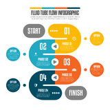 Fluxo fluido Infographic do tubo Fotos de Stock Royalty Free
