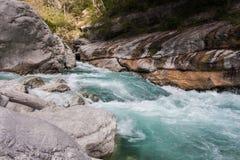 Fluxo rápido do rio de Verdon Foto de Stock